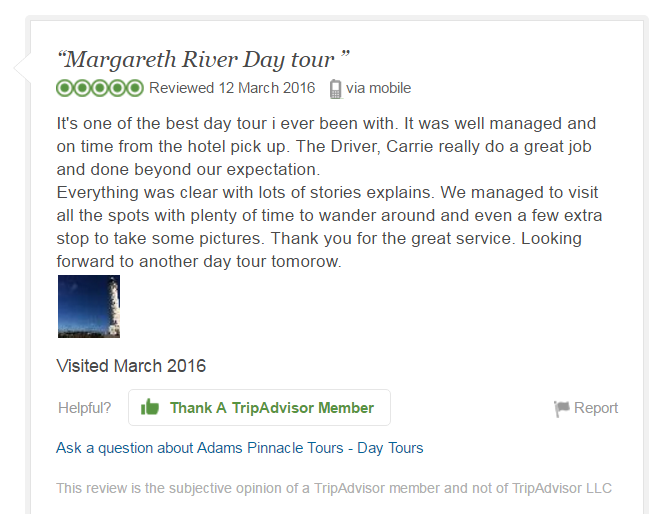 Anonymous, TripAdvisor Review