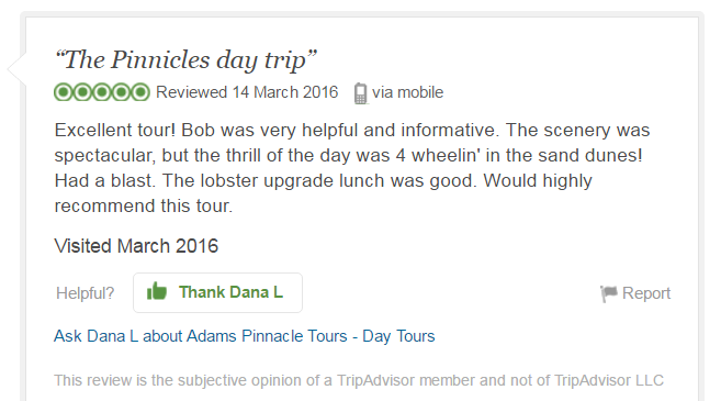 Dana L, TripAdvisor Review