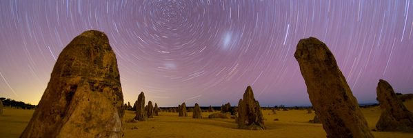 Startrails And Milky Way Over The Pinnacles Nambung National Park Adams Pinnacle Tours