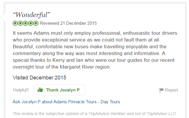 Jocelyn P, TripAdvisor Review