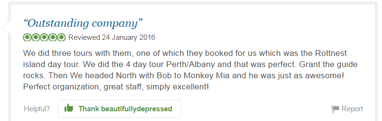 beautifullydepressed, TripAdvisor Review