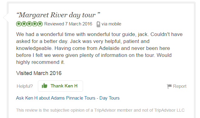 Ken H, TripAdvisor Review