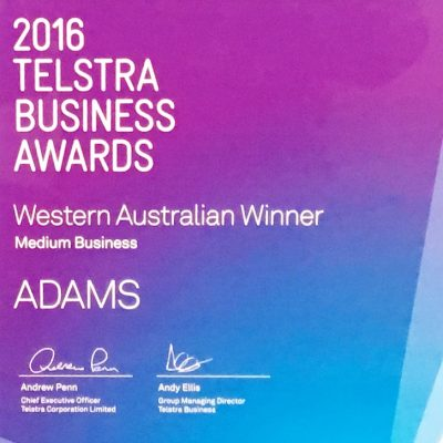 2016 Telstra Business Awards