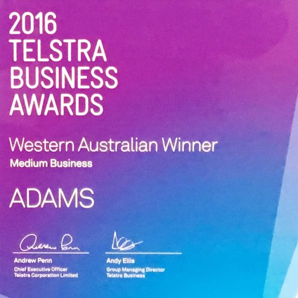 2016 Telstra Business Awards