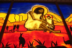 Stained glass window, New Norcia. Photo Credit: Australian Pacific Touring