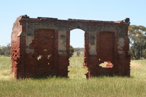 Ruins of the Victoria Plains Road Board building, New Norcia. Photo Credit: Tourism Western Australia