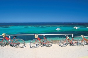 Bikes at Parker Point, Rottnest Island. Photo Credit: Tourism Western Australia