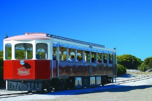 Historic Train Ride, Rottnest Island. Photo Credit: Rottnest Island Authority